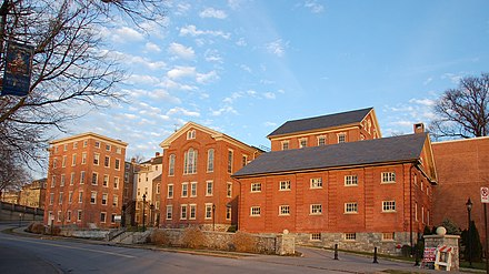 Moravian College's south campus in Bethlehem. Moravian College Bethlehem 2924px.jpg