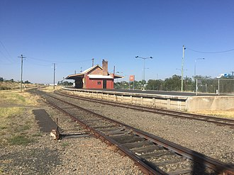 Moree, New South Wales - Moree railway station April 2018
