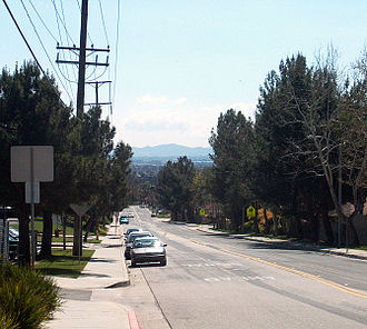 Moreno Valley, California - Southern Moreno Valley, viewed looking south down Kitching Street.