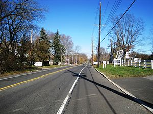 Morganville, New Jersey - Along northbound Route 79
