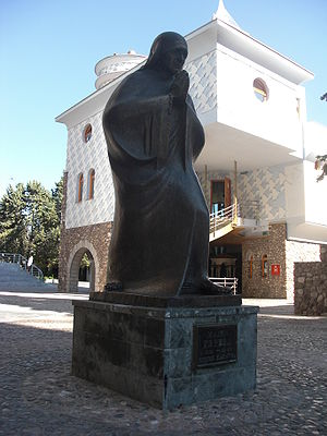 Memorial House of Mother Teresa - Monument of Mother Teresa next to the memorial house