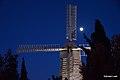 Moulin a vent-dans le quartier de Mishkenot shaananim de nuit.JPG