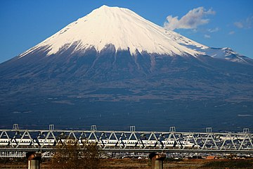 Mount Fuji and Shinkansen N700.jpg