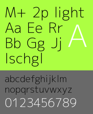 M+ FONTS - Image: Mplus 2p light sample