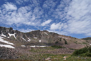 Park Range (Colorado) - West face of Mount Zirkel
