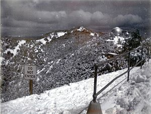 Mount Hamilton (California) - Mt. Hamilton had a foot of snow on the ground on April 1, 1967
