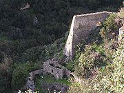 Mühle mit horizontalem Wasserrad am Fuß des Fallrohres bei Myrthios auf Kreta