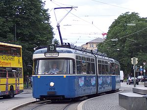 Trams in Munich - A Munich P class tram set