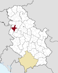 Location o the municipality o Šabac within Serbie