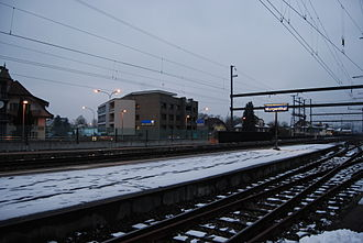 Murgenthal - Murgenthal railway station. Most of the growth of Murgenthal is due to the railway