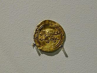 Ali az-Zahir - Gold dinar of Ali az-Zahir