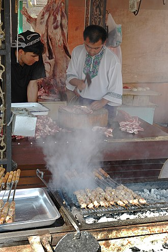 Chuan (food) - Chuan seller in Xinjiang