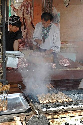 Xinjiang cuisine - Kawaplar, lamb kebabs