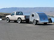 A teardrop trailer is so named for its resemblance to a teardrop.