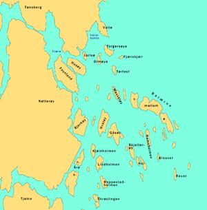 kart nøtterøy skjærgård Liste over øyer i Vestfold – Wikipedia kart nøtterøy skjærgård