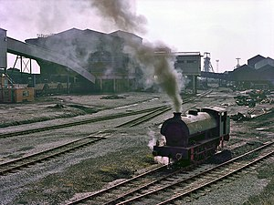 Westleigh, Greater Manchester - Locomotive at Bickershaw Colliery, Leigh