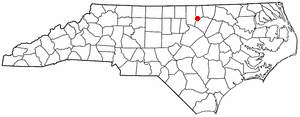 Kittrell, North Carolina - Image: NC Map doton Kittrell