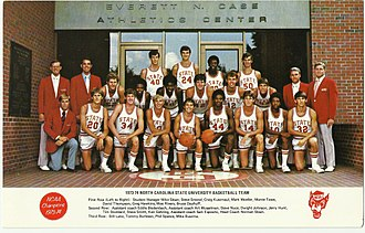 Tim Stoddard - N.C.S.U. NCAA Championship Basketball Team, 1973-1974. Stoddard: 2nd row, middle