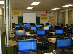 North Hollywood High School - One of the computer labs.