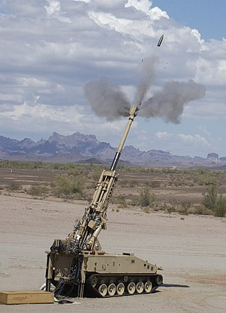 Weapon testing - Non-Line-of-Sight Cannon prototype firing