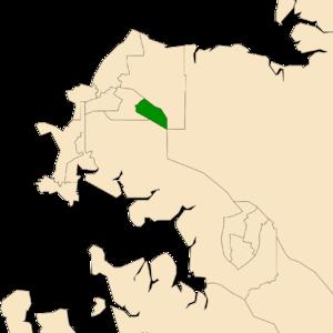 Electoral division of Karama - Location of Karama in the Darwin/Palmerston area