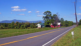 Hudson River Historic District - View across the Hudson Valley to Catskills from Livingston lands today