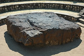 Meteorite - The 60-tonne, 2.7-metre long Hoba meteorite in Namibia is the largest known intact meteorite.