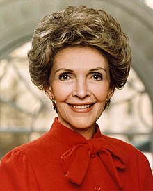 Portrait de Nancy Reagan en 1983.