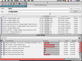 Napster - Napster running under Mac OS 9 in March 2001.