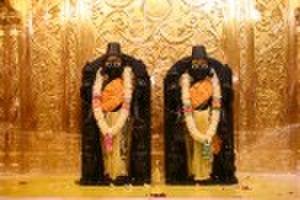 Nar Narayan Dev Gadi - NarNarayan at the Swaminarayan Temple in New Jersey (Colonia)