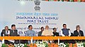 Narendra Modi at the foundation stone laying ceremony for 4th Container Terminal, at J.N Port, Mumbai. The Governor of Maharashtra, Shri C. Vidyasagar Rao, the Chief Minister of Maharashtra.jpg