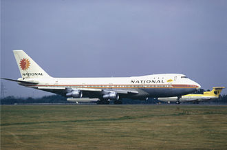National Airlines (1934–1980) - National Boeing 747-100 at London Heathrow Airport (1973)