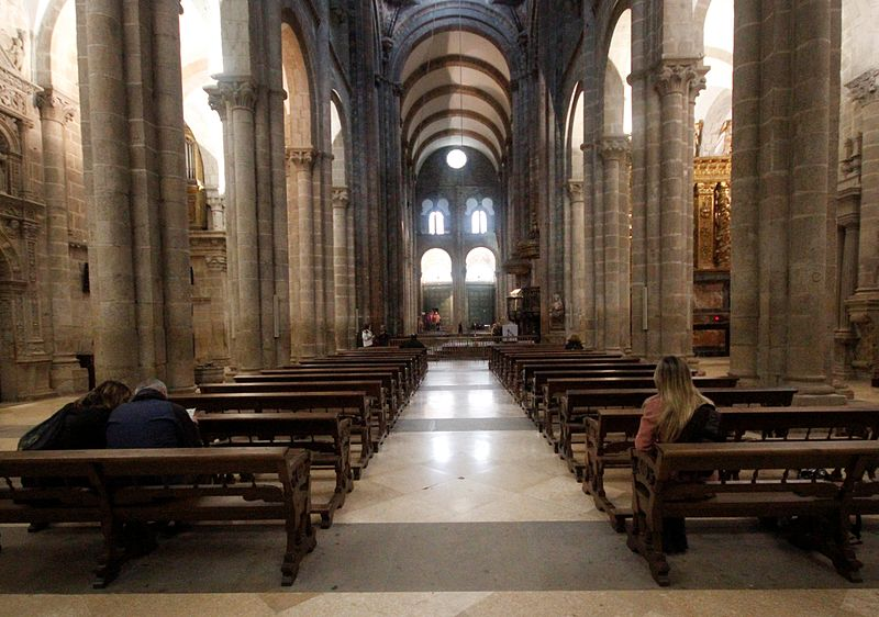 File nave of cathedral of santiago de compostela 2 jpg - Interior santiago de compostela ...