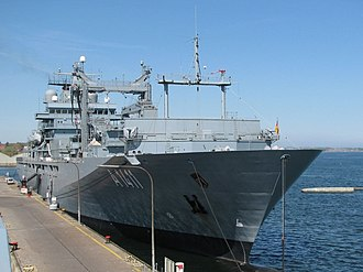 """Auxiliary ship - Image: Navy supply vessel """"Berlin"""""""