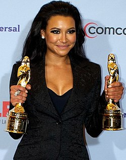 Naya Rivera at 2012 ALMA Awards (cropped).jpg