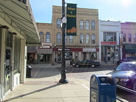 Ned's Corner in Movie Groundhog day at Woodstock, IL.JPG