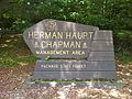 Nehantic Trail - Herman Haupt Chapman Management Area sign.jpg
