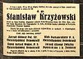"""Nekrolog śp. Stanisława Krzyżowskiego. """"Polonia"""" z 4 maja 1933, nr 3077, s. 1.jpg"""