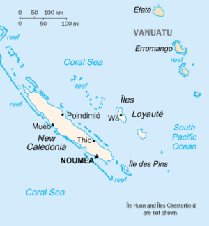 Geography of New Caledonia - Map of New Caledonia