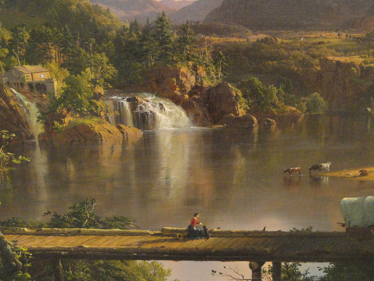 File New England Scenery Frederic Edwin Church Detail