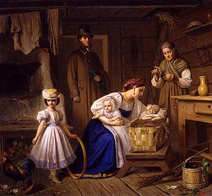 Carl Wenig - Image: Niańka odwiedza własne dziecko