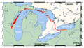 Niagara Escarpment map.png