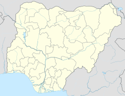 Owerri indicated in a map of Nigeria