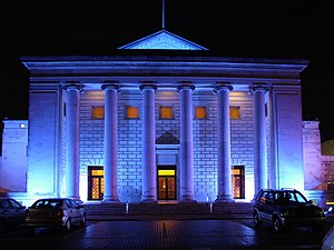 Southampton Guildhall - Exterior of the O2 Guildhall Southampton, shown at night, 2005