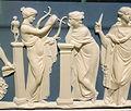 Nine Muses, attributed to John Flaxman, Jr., detail 3 - Wedgwood & Bentley, 1778-1780 - Brooklyn Museum - DSC08974.JPG