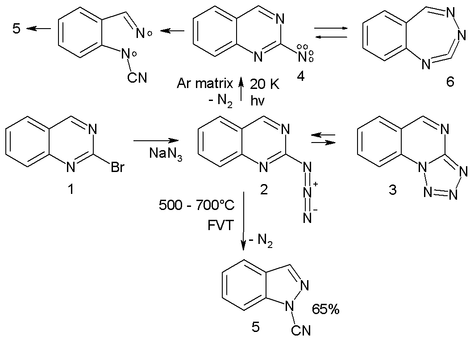 Nitrene ring-expansion and ring-contration