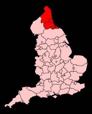 North East Ambulance Service - Image: North East Ambulance Service map