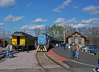 Mid-Continent Railway Museum - The restored 1894 Chicago & North Western Railway depot serves as the starting point for museum visitors.
