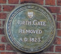 Photo of North Gate, Colchester green plaque