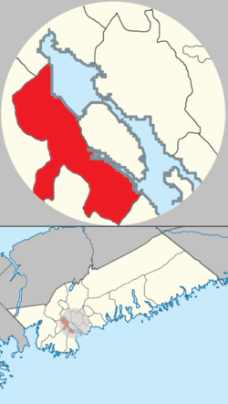 Location of Mainland Halifax in municipal Halifax